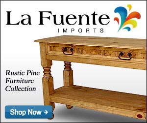 Rustic Pine Collection - Console Table