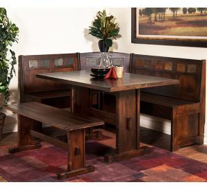Rustic Furniture Rustic Santa Fe Breakfast Nook Set With Table