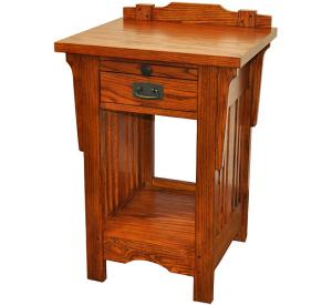 Rustic Mission Oak One-Drawer Nightstand