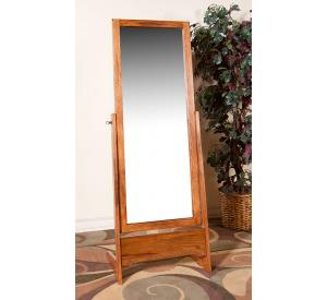Rustic Oak & Slate Cheval Mirror