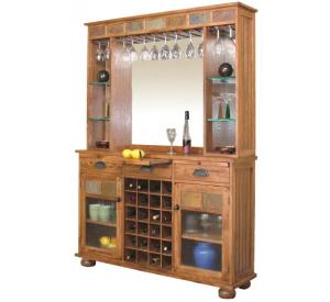 Rustic Oak & Slate Complete Server & Back Bar
