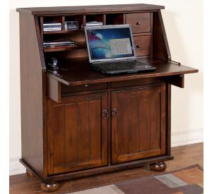 Rustic Santa Fe Secretary Desk