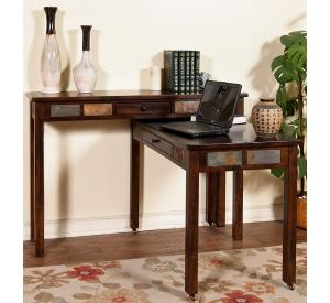 Rustic Santa Fe Console Desk Set w/Casters