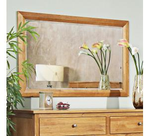 Solid Cherry Furniture Beveled Mirror