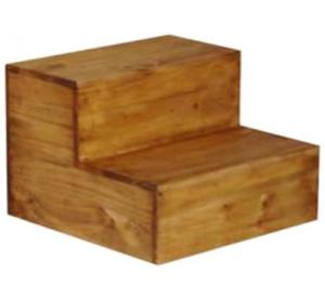 Mexican Rustic Pine Step Stool