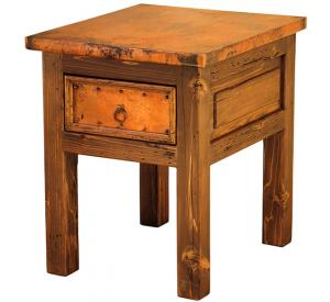 Mexican Copper Inlaid Montana Nightstand