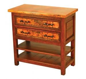 Mexican Copper Inlaid Francisco Nightstand