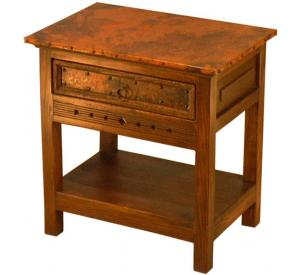 Mexican Copper Inlaid Taos Nightstand