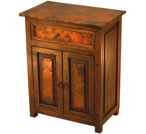 Mexican Copper Inlaid Deer Valley Nightstand