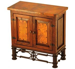 Mexican Copper Inlaid Ares Nightstand