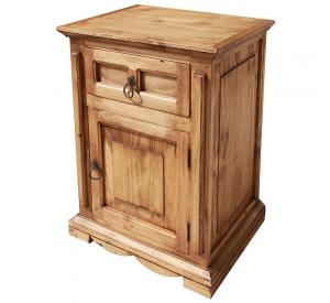 Mansion Mexican Rustic Pine Nightstand (Door opens Right)