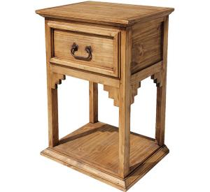 New Mexico Mexican Rustic Pine Nightstand