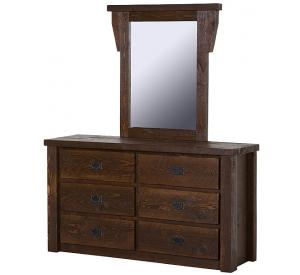 Rustic Barnwood Barnwood Dresser Mirror