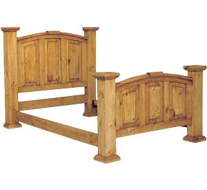Twin Mansion Mexican Rustic Pine Bed