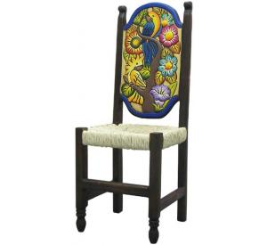 Rustic furniture mexican rustic woven birds flowers for Non traditional dining room chairs