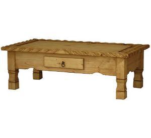 Rustic Furniture Texana Mexican Rustic Pine Coffee Table