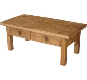 Rustic Furniture Juanillo Mexican Rustic Pine Coffee Table W Drawers