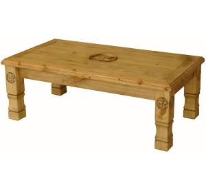 Rustic Furniture Julio 9 Star Mexican Rustic Pine Coffee Table