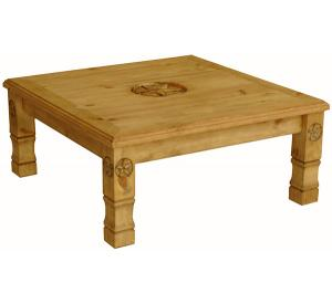 Rustic Furniture Square Julio 9 Star Mexican Rustic Pine Coffee Table