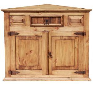 Rustic Furniture Corner Mexican Rustic Pine Cabinet