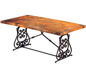 Mexican Copper Inlaid Monte Cristo Desk