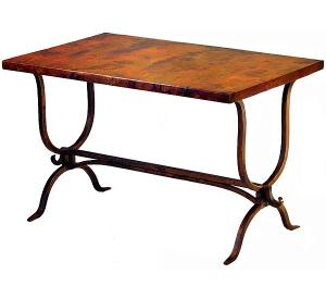Mexican Copper Inlaid Alexandria Desk