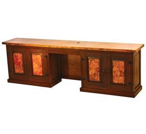 Mexican Copper Inlaid Back Companion Desk