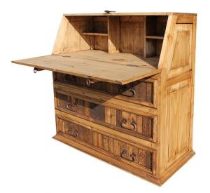 Fold-Down Mexican Rustic Pine Desk