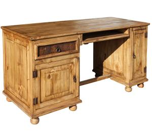 Computer Mexican Rustic Pine Desk with Feet