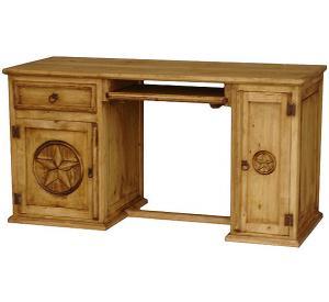 Star Computer Mexican Rustic Pine Desk