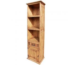 One-Door Mexican Rustic Pine Bookcase