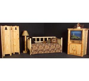 Rustic Pine Log Northwoods Twin Day Bed
