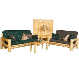 Rustic Pine Log Northwoods Arm Chair Frame