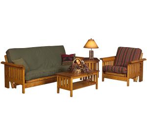 Rustic Pine Log Vienna Arm Chair Frame