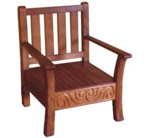 Rustic furniture southwestern rustic labrado chair for Non traditional dining room chairs