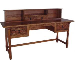 Southwestern Rustic Morisco Desk with Shelf