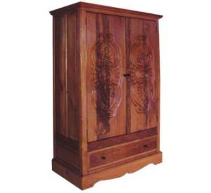 Southwestern Rustic Bombay Armoire