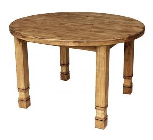Rustic Furniture Small Round Julio Mexican Rustic Pine Dining Table