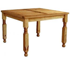rustic furniture large square lyon mexican rustic pine dining table