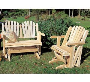 rustic furniture adirondack glider seat outdoor