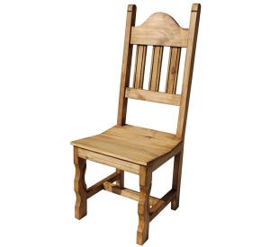 Rustic furniture pueblo mexican rustic pine chair for Non traditional dining room chairs