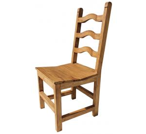 Rustic furniture colonial mexican rustic pine chair for Non traditional dining room chairs
