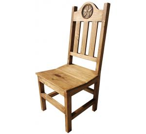 Rustic furniture lone star mexican rustic pine chair for Non traditional dining room chairs