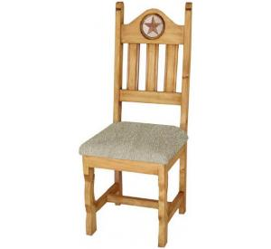 Rustic Furniture Texas Mexican Rustic Pine Chair With Inlaid Marble