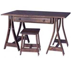 Rustic Oak Stave Horse Desk