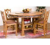 Rustic Oak & Slate Adjustable Dining Table