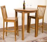 Rustic Oak Round Pub Table