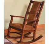 Rustic Santa Fe Rocker with Cushion