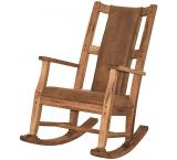 Rustic Oak Rocker with Microfiber