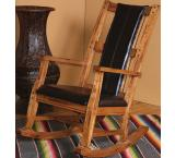Rustic Oak Rocker with Cushion